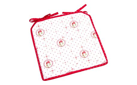 Trade Concept Sedák Country puntík červená, 40 x 40 cm