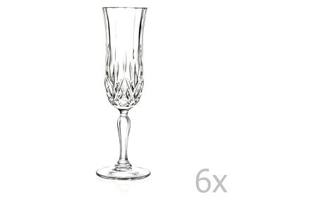 Sada 6 sklenic na sekt RCR Cristalleria Italiana Maddalena