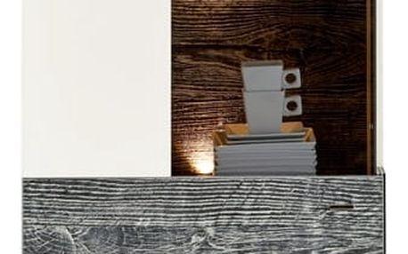 Vitrína leeds, 60,4/203,3/41,3 cm