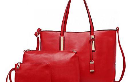SET: Dámská červená kabelka Connie 1435S