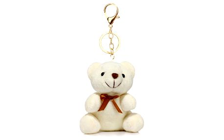 Bílý přívěšek Teddy 1017