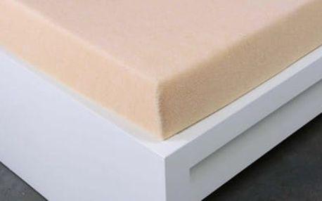 XPOSE ® Froté prostěradlo jednolůžko - bílá káva 90x200 cm