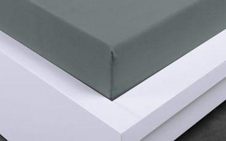 XPOSE ® Jersey prostěradlo Exclusive jednolůžko - tmavě šedá 90x200 cm