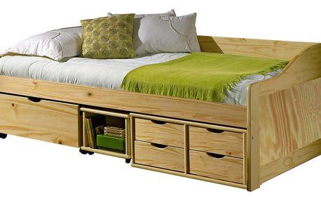 Zvýšená postel 90x200 cm s roštem 8809 Idea
