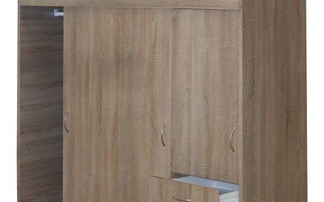 šatní skříň 3000 s posuvnými dveřmi, dub sonoma Idea
