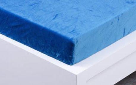 XPOSE ® Prostěradlo mikroflanel Exclusive dvoulůžko - modrá 180x200 cm