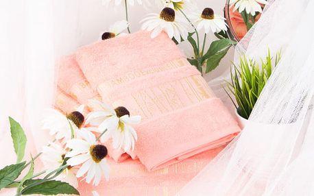 Night in Colours Bambusový ručník ARYA - lososová 50x90 cm