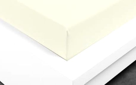 XPOSE ® Jersey prostěradlo dvoulůžko - vanilková gramáž 150g/m 160x200 cm