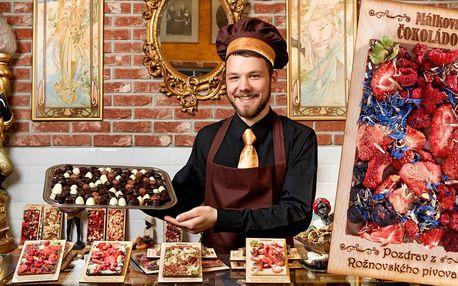 Valentýnské ručně vyráběné Rothschildovy čokolády