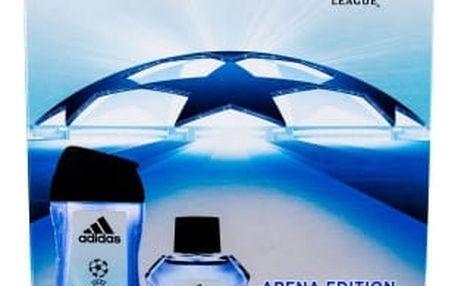 Adidas UEFA Champions League Arena Edition dárková kazeta pro muže toaletní voda 100 ml + sprchový gel 250 ml