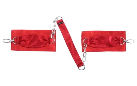 Sutra Chainlink Cuffs Red Lelo 6655