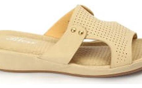 Dámské pantofle BLESS s ANTISHOKOVOU stélkou béžové