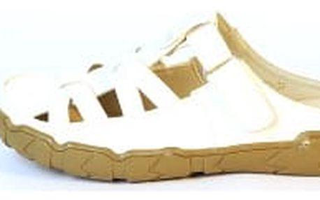 Dámské zdarovtní pantofle TOP PLAY bílé