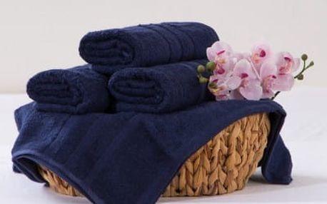 XPOSE ® Bambusový ručník SÁRA - tmavě modrá 50x90 cm