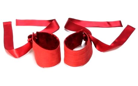 Etherea Silk Cuffs Red Lelo XELO1432