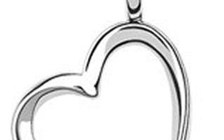 Krystal Swarovski v přívěsku srdce včetně řetízku a dárkový měšec zdarma - krásný dáreček.