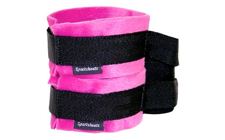 Kinky Pinky Cuffs with Tethers Sportsheets FH017