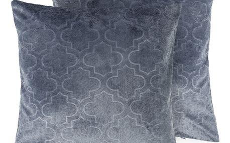 4Home Povlak na polštářek Salazar šedomodrá, 2x 40 x 40 cm