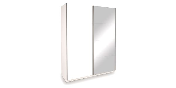 Skříň s posuvnými dveřmi DECOR 150 bílá/zrcadlo