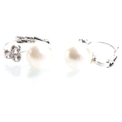 Náušnice s perličkou a krystaly Swarovski Elements Laura Bruni Sia