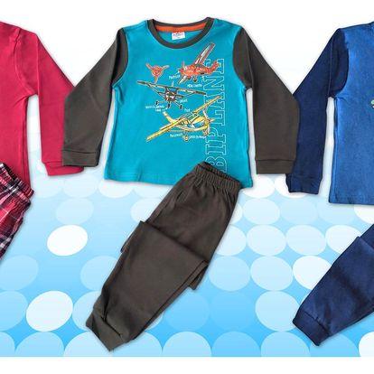 Dětská pyžama s dlouhým rukávem i nohavicemi