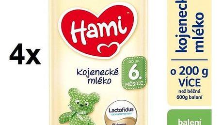 Kojenecké mléko Hami od ukončeného 6m měsíce, 800g x 4ks + Doprava zdarma