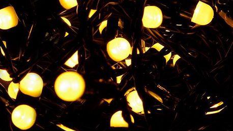 Nexos 28572 Vánoční LED osvětlení 20 m - teple bílá, 200 MAXI LED diod