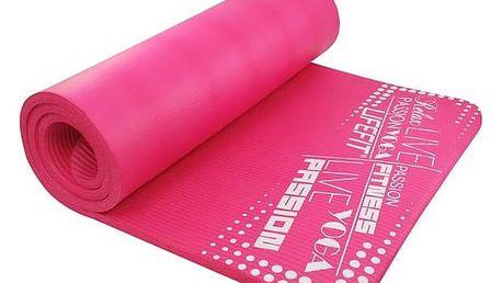 Podložka LIFEFIT Yoga Mat Exkluziv Plus 180x60x1,5cm růžová