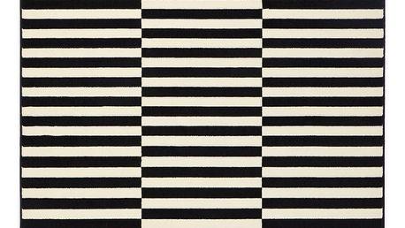 Černobílý koberec Hanse Home Gloria Panel, 120x170cm