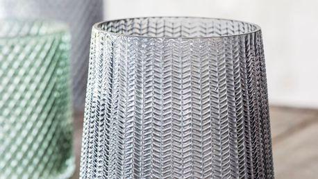 IB LAURSEN Skleněný svícen Grey glass, šedá barva, sklo