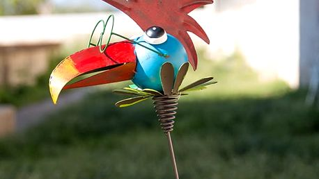 Ozdobný Plechový Zahradní Ptáček