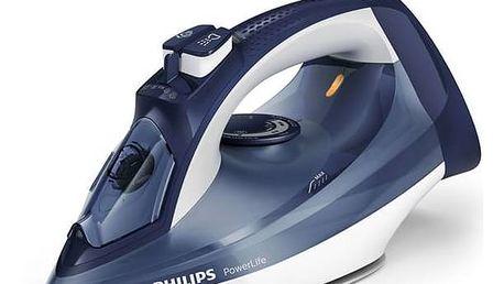 Žehlička Philips PowerLife GC2996/20 modrá + Doprava zdarma