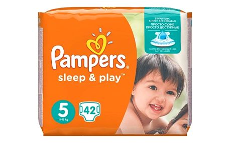Pampers Sleep & Play 5 junior 11 - 18 kg 42 kusů