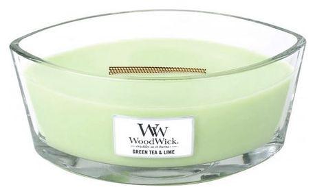 Svíčka s vůní zeleného čaje, máty a limetky WoodWick, dobahoření80hodin