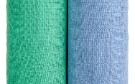 T-TOMI Exclusive Collection Látkové Tetra osušky 2 ks Modrá + Zelená