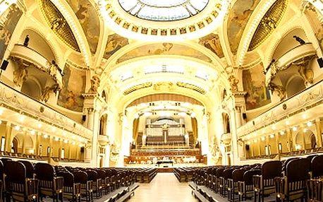 Vstupenka na koncert nejznámějších melodií Mozarta & Vivaldiho ve Smetanově síni Obecního domu.