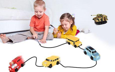 Indukční autíčko s magickým fixem – nakresli trať podle sebe