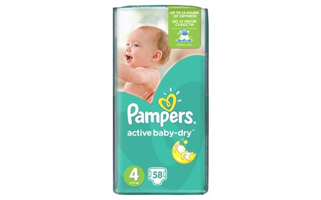 PAMPERS Active Baby Maxi 7-14 kg 58 kusů