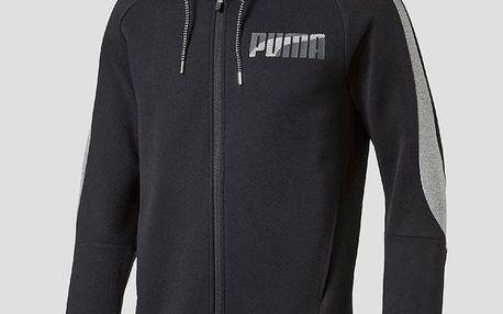 Mikina Puma Evostripe FZ Hoody Cotton Black Černá
