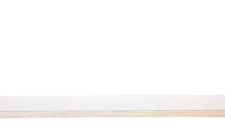 Hübsch Dřevěná police s koženými pásky, bílá barva, hnědá barva, dřevo, kůže