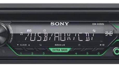Autorádio s CD Sony CDX-G1202U černé