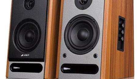 Reproduktory Fenda F&D R25BT 2.0, bluetooth, NFC (R25BT) dřevo