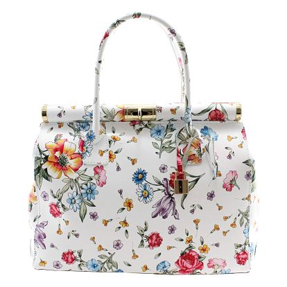 Květinová kožená kabelka Chicca Borse Daisy - doprava zdarma!