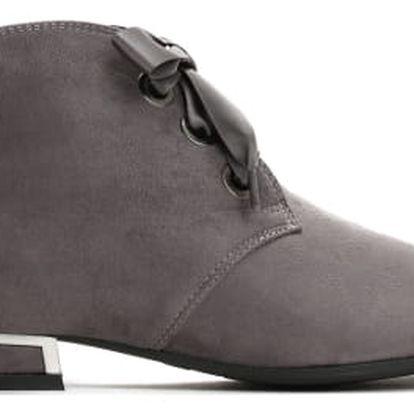 Dámské tmavě šedé kotníkové boty Briana 3106