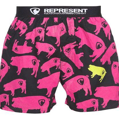 Pánské trenýrky Represent exclusive mike pig farm pink M