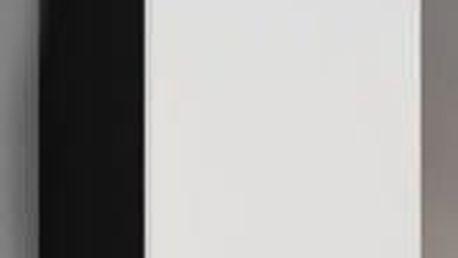 Vigo - Vitrína závěsná, 1x dveře (černá mat/bílá VL)