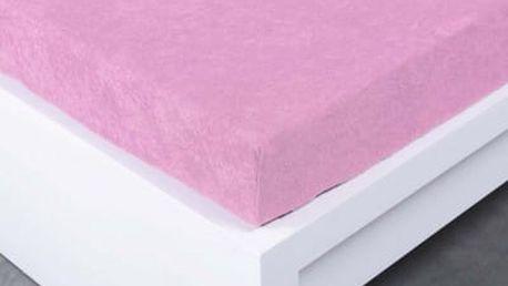 XPOSE ® Froté prostěradlo Exclusive dvoulůžko - levandulová 180x200 cm