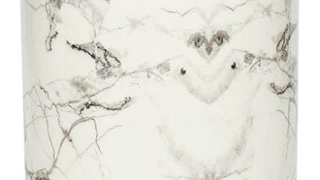 Bílá porcelánová dóza Hübsch Marble, výška16cm