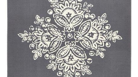 Šedobílý koberec Hanse Home Gloria Blossom, 80x150cm