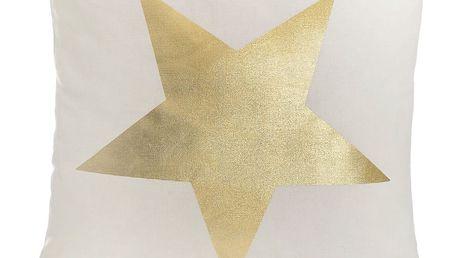 Bílý povlak na polštář Apolena Star, 45x45cm